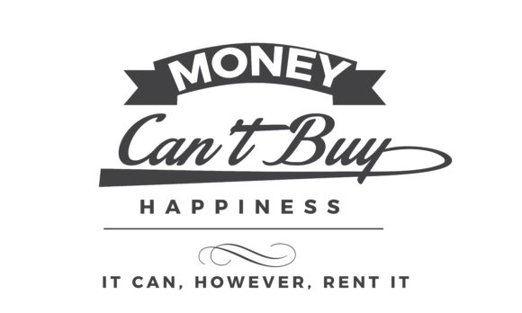 Print on Demand: Money Can't Buy Happiness Graphic Illustrations By baraeiji