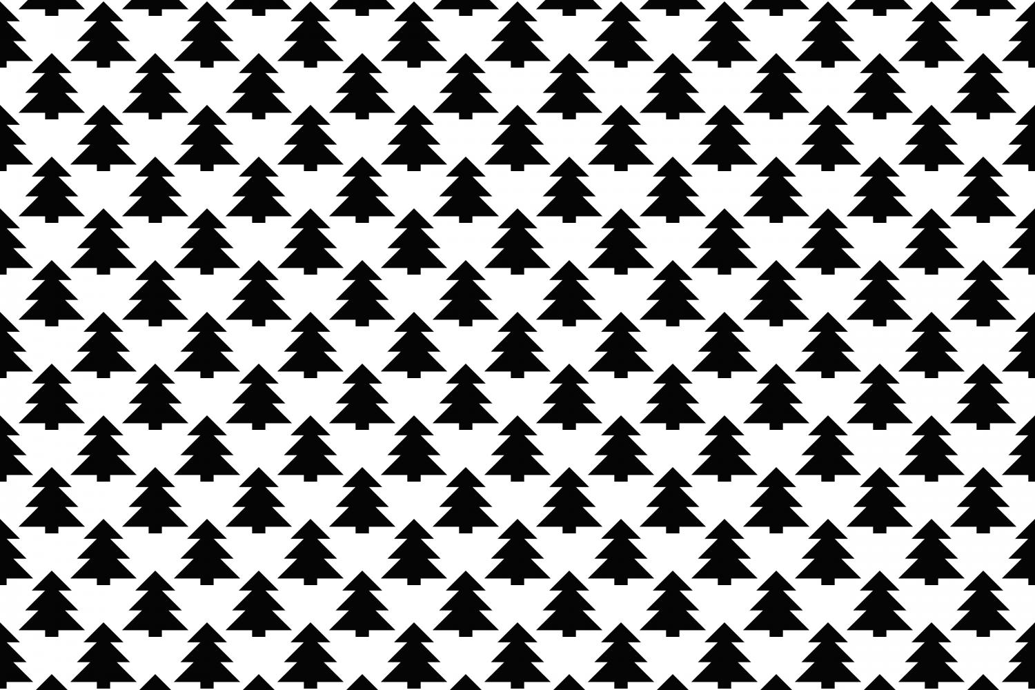 Download Free Monochrome Seamless Winter Pattern Graphic By Davidzydd for Cricut Explore, Silhouette and other cutting machines.