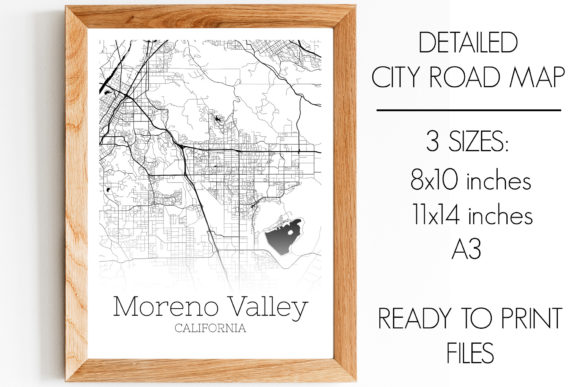 Download Free Moreno Valley California City Map Graphic By Svgexpress for Cricut Explore, Silhouette and other cutting machines.