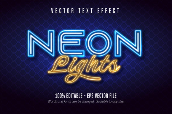 Print on Demand: Neon Signage Style Editable Text Effect Graphic Graphic Templates By Mustafa Bekşen