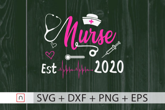 Download Free New Nurse Graduation Gift 2020 Graphic By Novalia Creative Fabrica for Cricut Explore, Silhouette and other cutting machines.