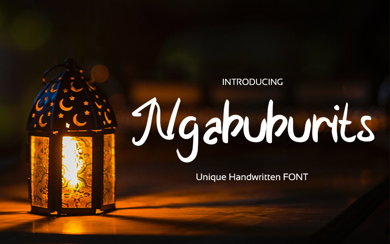 Download Free Ngabuburits Font By Graph Arts Creative Fabrica for Cricut Explore, Silhouette and other cutting machines.