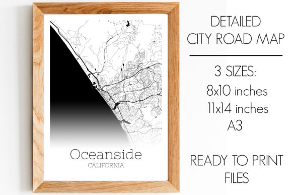Print on Demand: Oceanside California City Map Graphic Photos By SVGExpress