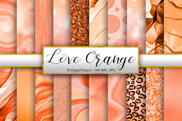 Orange Background Digital Papers Graphic Backgrounds By PinkPearly