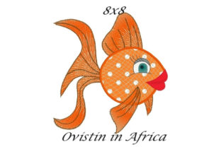 Orange Sassy Applique Fish Fish & Shells Embroidery Design By Ovistin in Africa