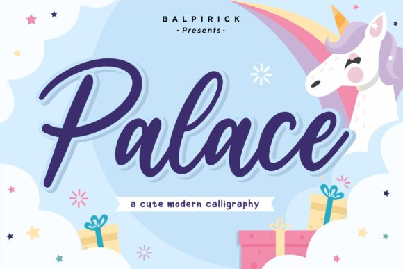 Print on Demand: Palace Script & Handwritten Font By Balpirick