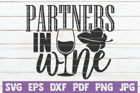 Download Free Partners In Wine Graphic By Mintymarshmallows Creative Fabrica for Cricut Explore, Silhouette and other cutting machines.
