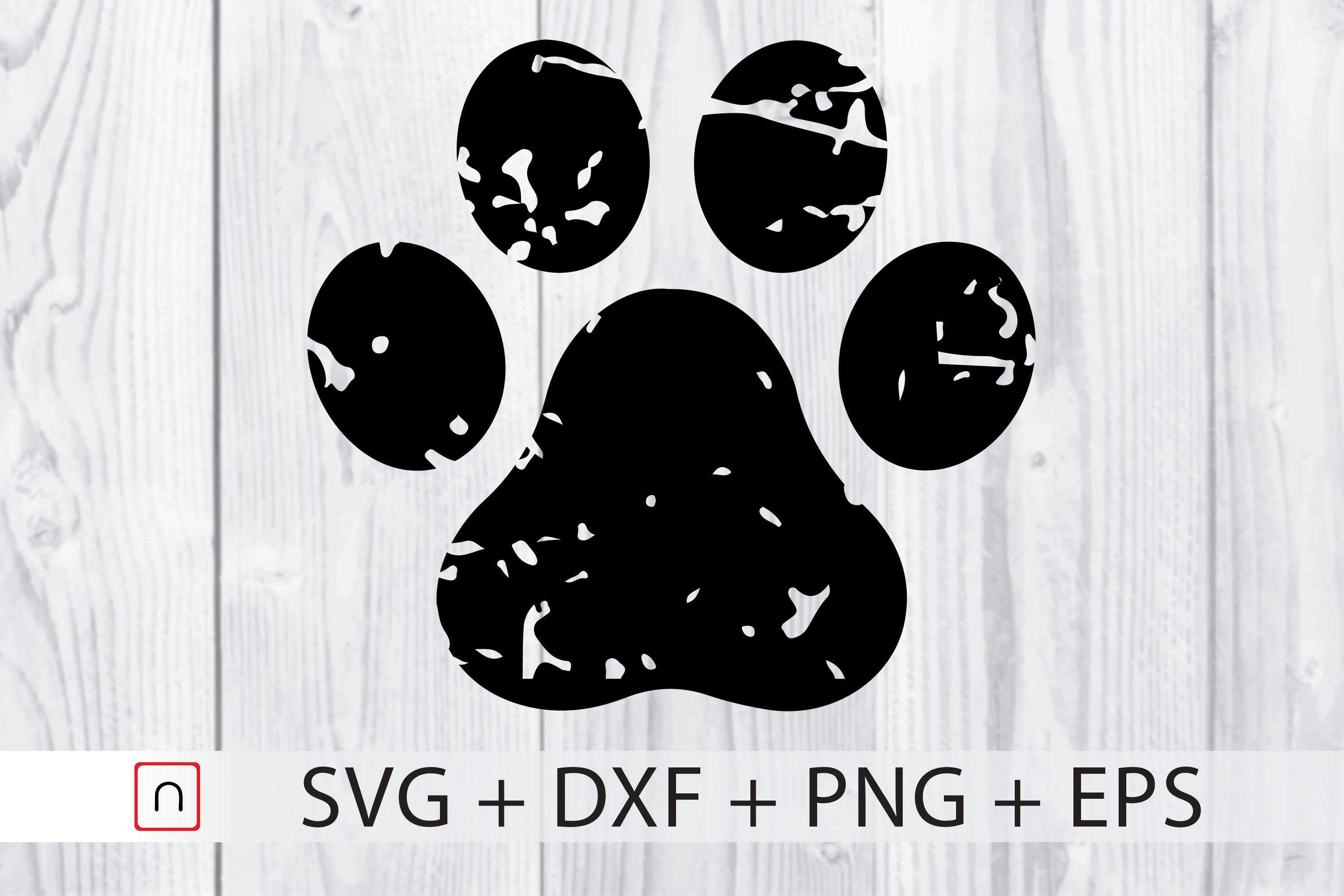 Download Free Paw Distressed Dog Cricut Graphic By Novalia Creative Fabrica for Cricut Explore, Silhouette and other cutting machines.