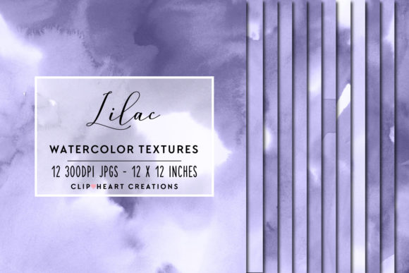 Purple Watercolor Digital Papers Graphic Backgrounds By clipheartcreations