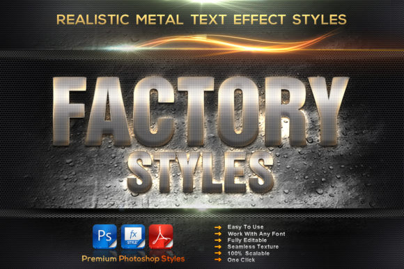 Realistic Metal Styles Graphic Layer Styles By MualanaDesign