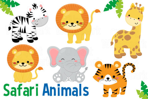 Safari Clipart Graphic Illustrations By magreenhouse