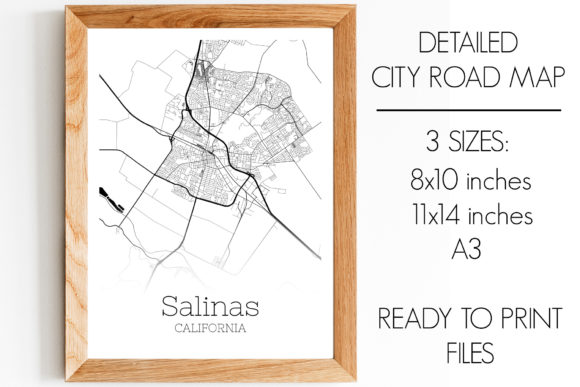 Download Free Salinas California City Map Graphic By Svgexpress Creative Fabrica SVG Cut Files