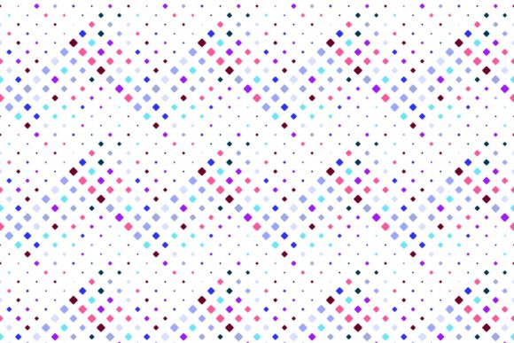 Seamless Multicolored Square Pattern Graphic Patterns By davidzydd