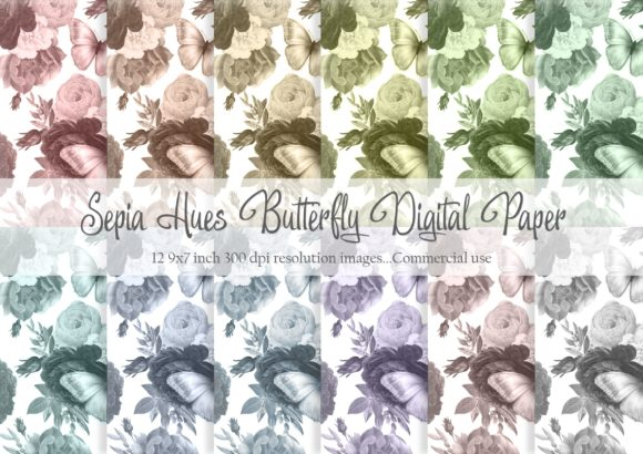 Download Free Sepia Hues Digital Paper Graphic By Simply Paper Craft for Cricut Explore, Silhouette and other cutting machines.