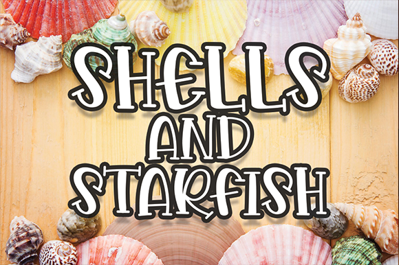 Print on Demand: Shells and Starfish Display Fuente Por andikastudio