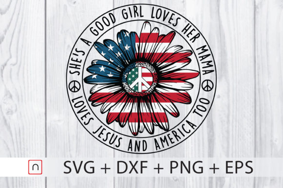 Print on Demand: She's a Good Girl 4th of July Cricut Graphic Print Templates By Novalia
