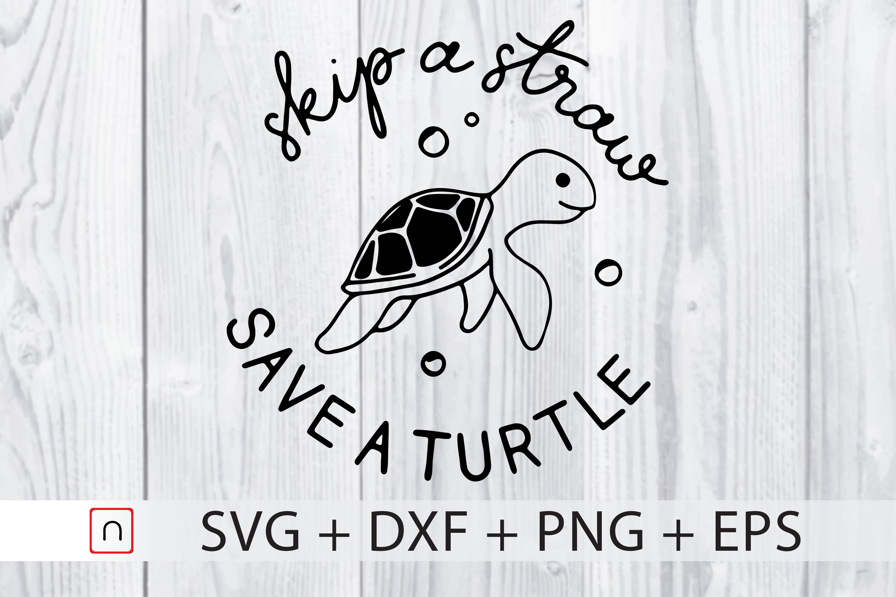 Download Free Skip A Straw Turtle Lovers Graphic By Novalia Creative Fabrica for Cricut Explore, Silhouette and other cutting machines.