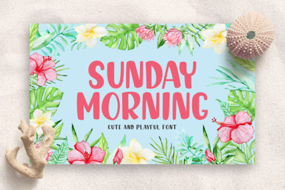 Print on Demand: Sunday Morning Script & Handwritten Font By markonahcreative