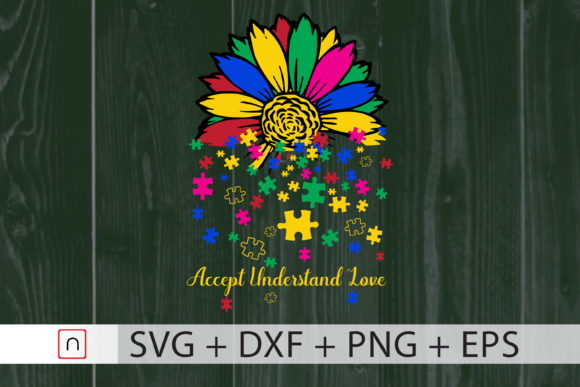 Download Free Sunflower Lover Autism Cricut Graphic By Novalia Creative Fabrica for Cricut Explore, Silhouette and other cutting machines.
