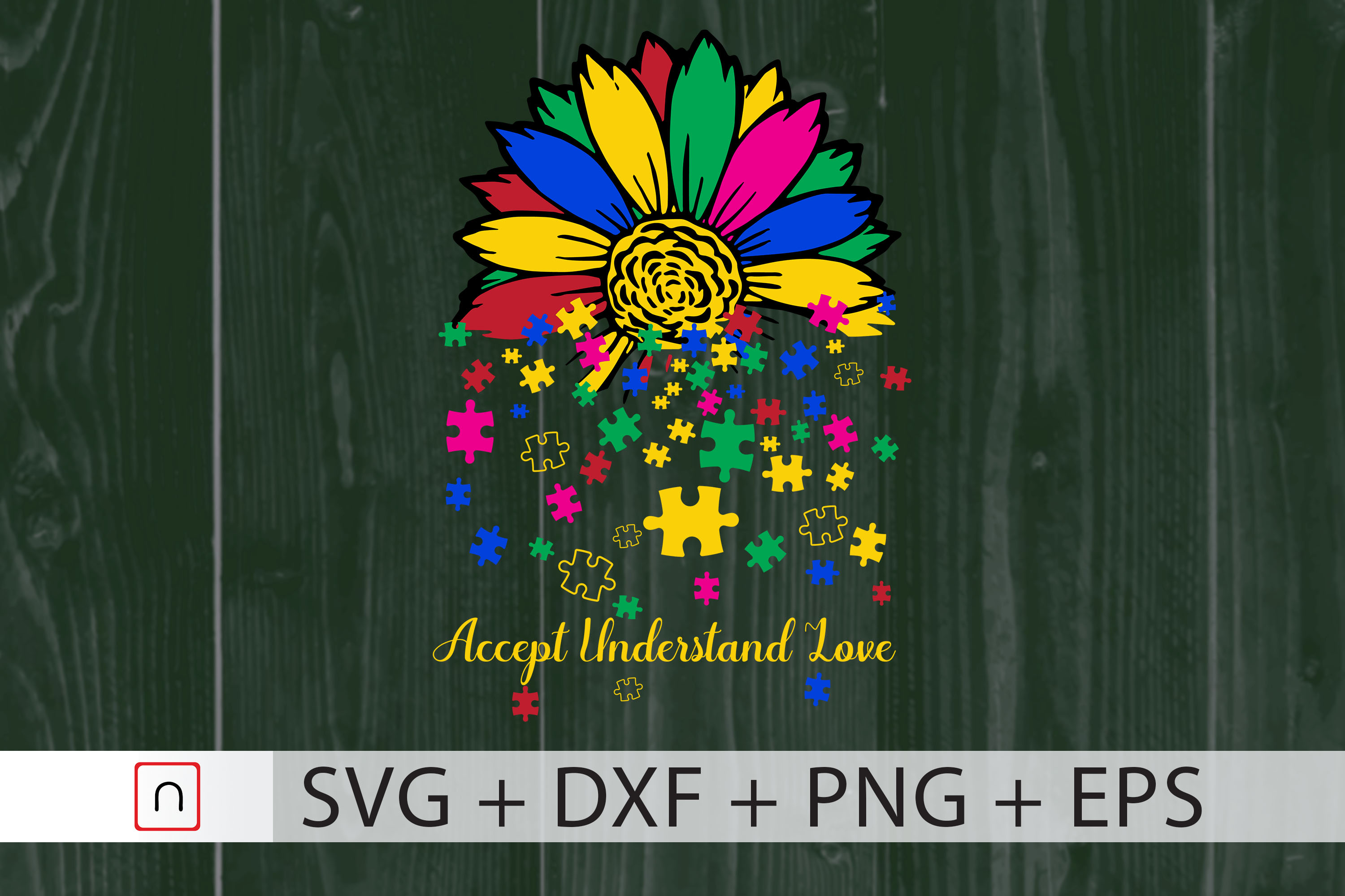 Download Free Sunflower Lover Autism Cricut Graphic By Novalia Creative Fabrica SVG Cut Files