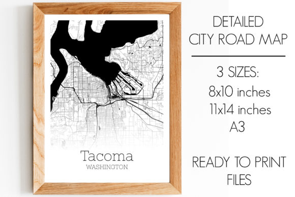 Download Free Tacoma Washington City Map Graphic By Svgexpress Creative Fabrica for Cricut Explore, Silhouette and other cutting machines.