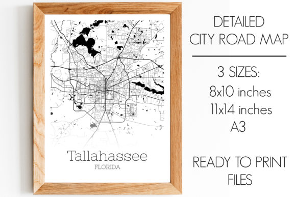 Print on Demand: Tallahassee Florida City Map Graphic Photos By SVGExpress