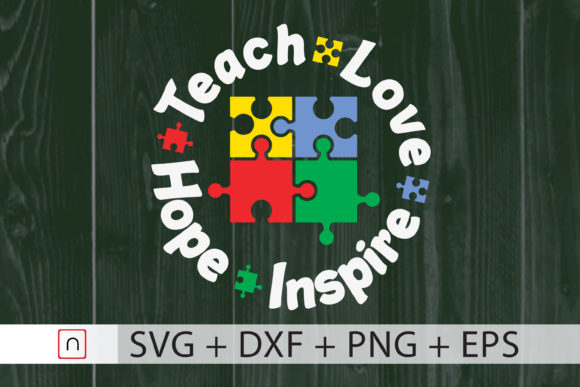 Download Free Teach Love Hope Inspire Graphic By Novalia Creative Fabrica for Cricut Explore, Silhouette and other cutting machines.
