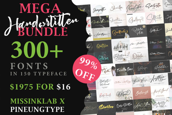 The Mega Handwritten Bundle  By missinklab