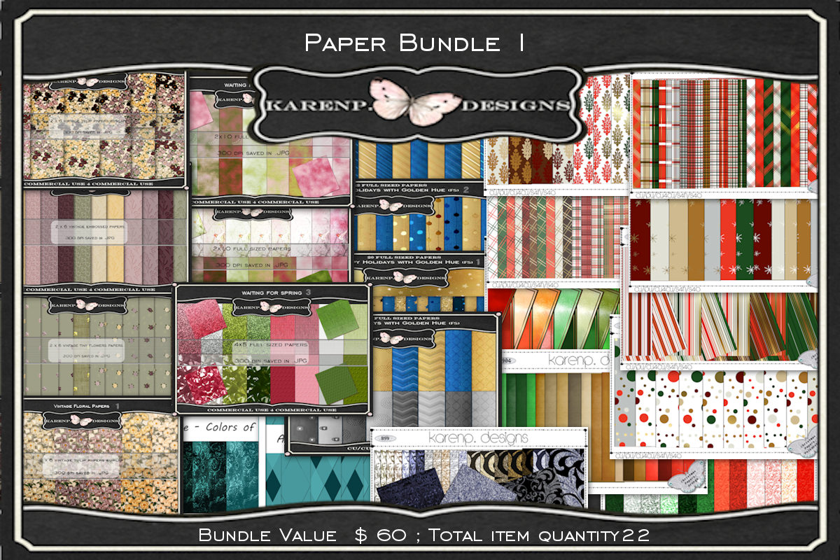Download Free The Paper Bundle Vol 1 Bundle Creative Fabrica for Cricut Explore, Silhouette and other cutting machines.