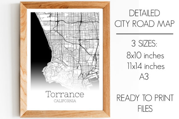 Download Free Torrance California City Map Graphic By Svgexpress Creative Fabrica for Cricut Explore, Silhouette and other cutting machines.