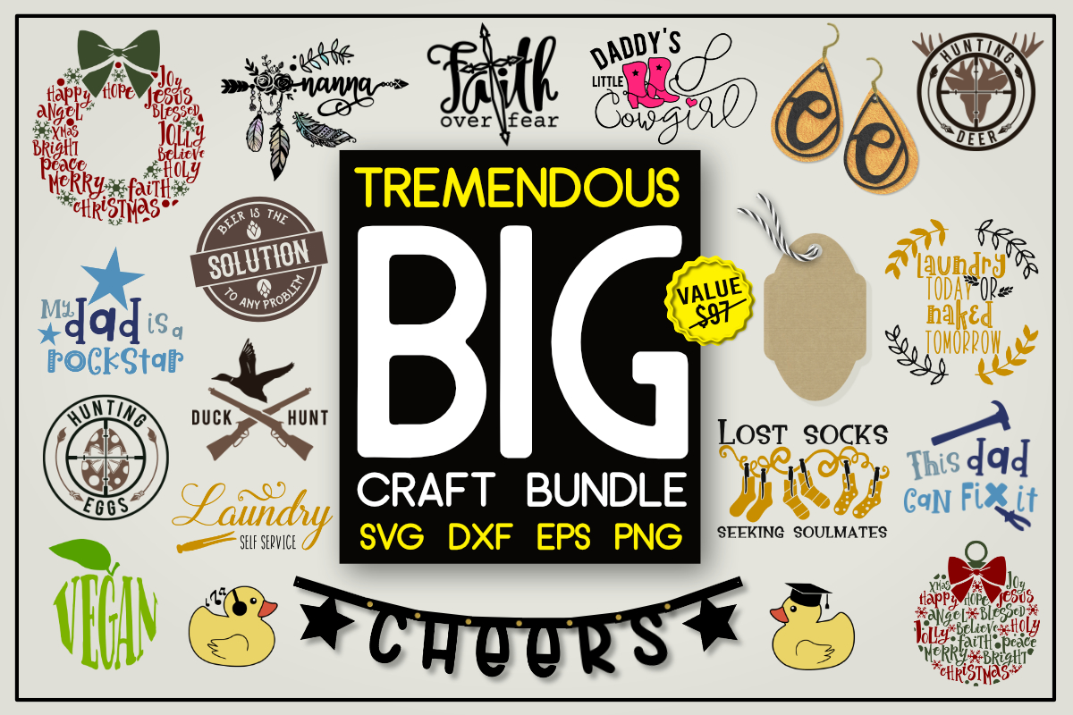 Download Free Tremendous Big Craft Bundle Bundle Creative Fabrica SVG Cut Files
