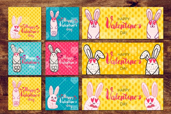 Download Free Valentine With Loved Bunny Graphic By Barsrsind Creative Fabrica for Cricut Explore, Silhouette and other cutting machines.
