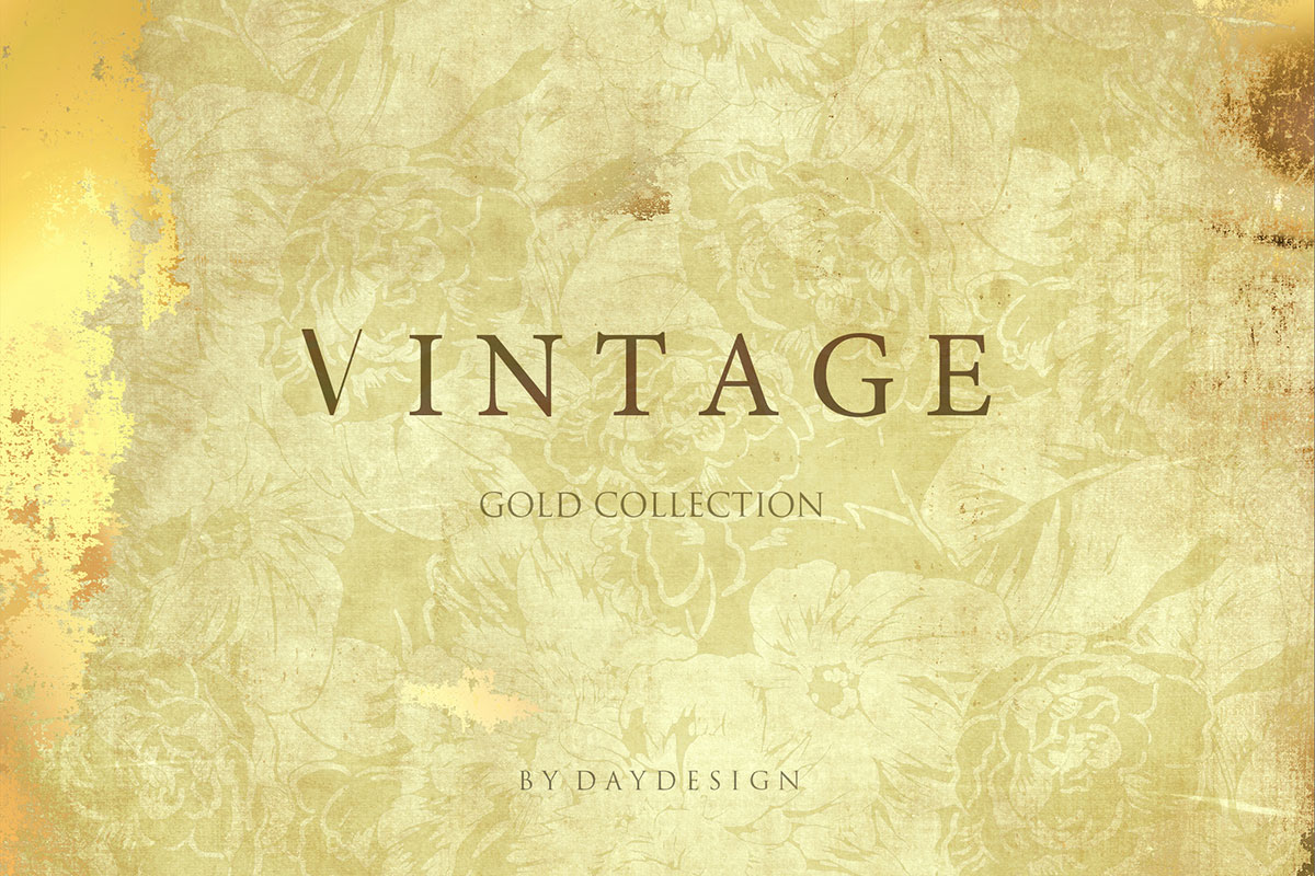Download Free Vintage Gold Digital Paper Graphic By Daydesign Creative Fabrica for Cricut Explore, Silhouette and other cutting machines.