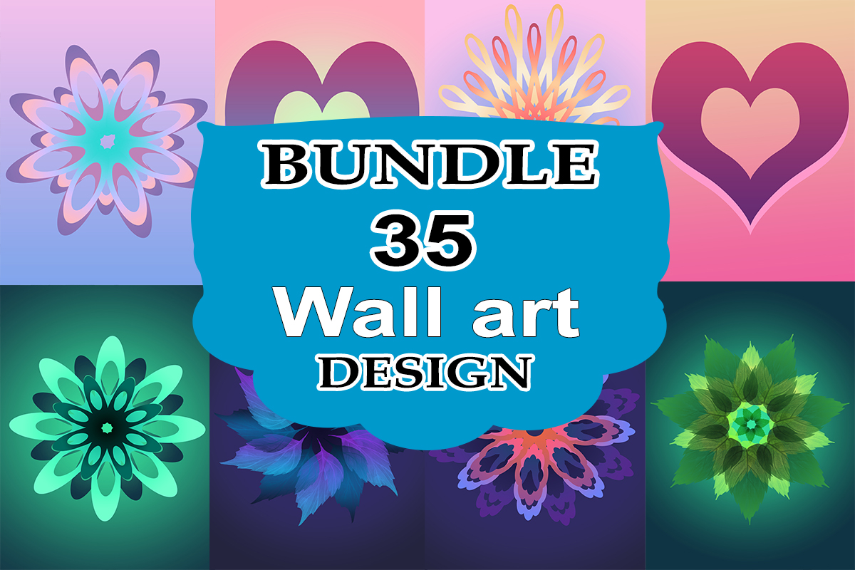 Download Free Wall Art Design Bundle Bundle Creative Fabrica for Cricut Explore, Silhouette and other cutting machines.