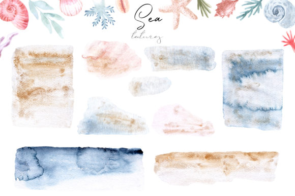 Watercolor Sea Collection. Cliparts Graphic Objects By Slastick - Image 3