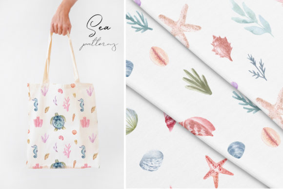 Watercolor Sea Collection. Cliparts Graphic Objects By Slastick - Image 5