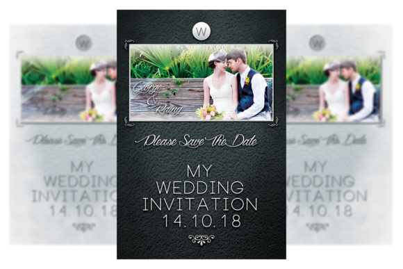 Download Free Wedding Invitation Graphic By Matthew Design Creative Fabrica for Cricut Explore, Silhouette and other cutting machines.