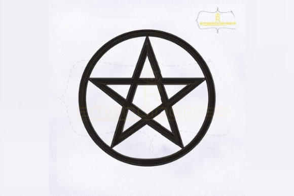 Wicca Pentacle Religion & Faith Embroidery Design By RoyalEmbroideries