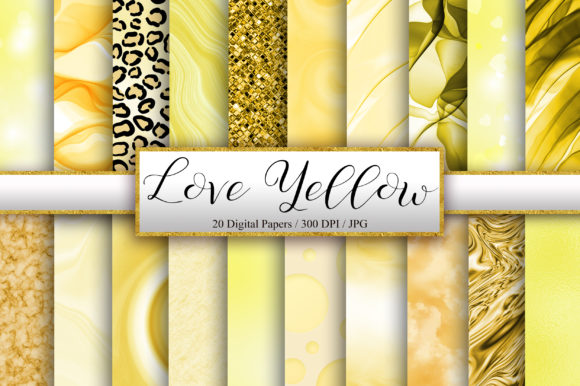 Yellow Background Digital Papers Graphic Backgrounds By PinkPearly
