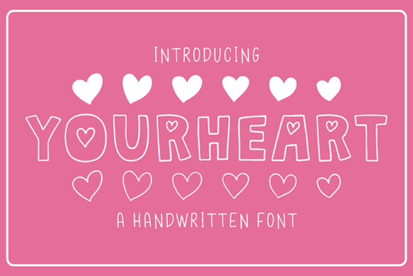 Print on Demand: Your Heart Sans Serif Font By carrtoonz