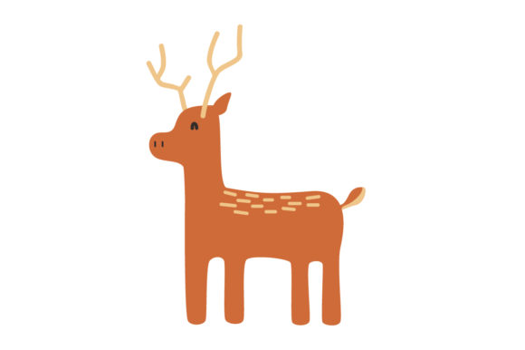 Download Free Cute Deer Animal Vector Graphic By Sasongkoanis Creative Fabrica for Cricut Explore, Silhouette and other cutting machines.