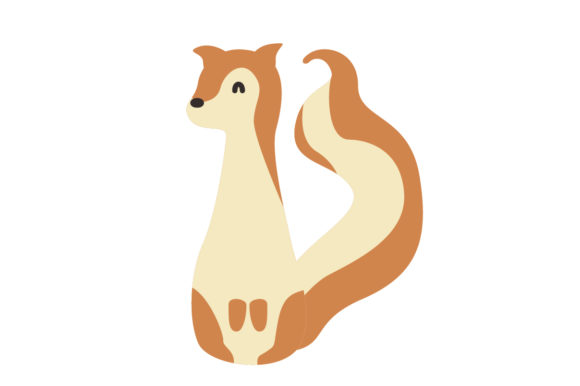 Download Free Cute Squirrel Animal Vector Graphic By Sasongkoanis Creative for Cricut Explore, Silhouette and other cutting machines.