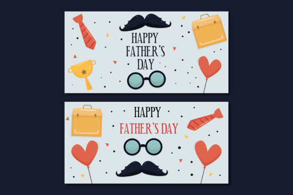 Download Free Father S Day Hand Drawn Banners Template Graphic By Aprlmp276 for Cricut Explore, Silhouette and other cutting machines.