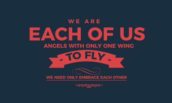 Download Free Fly We Need Only Embrace Each Other Graphic By Baraeiji for Cricut Explore, Silhouette and other cutting machines.
