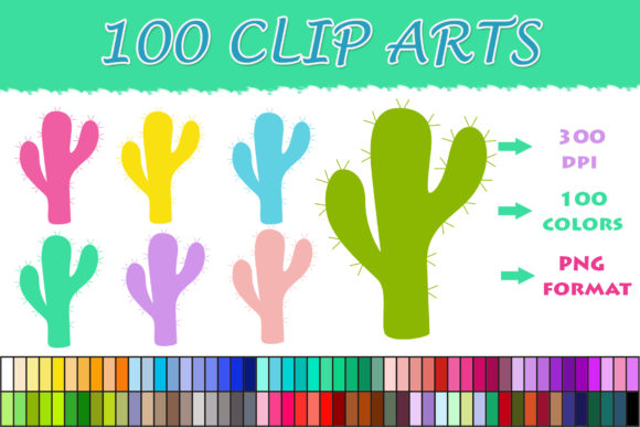 Download Free 100 Cactus Clip Art Graphic By Sweetdesign Creative Fabrica for Cricut Explore, Silhouette and other cutting machines.