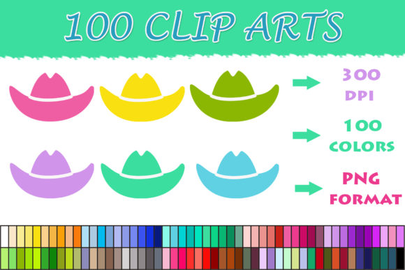 Download Free 100 Cowboy Hat Clip Art Graphic By Sweetdesign Creative Fabrica for Cricut Explore, Silhouette and other cutting machines.