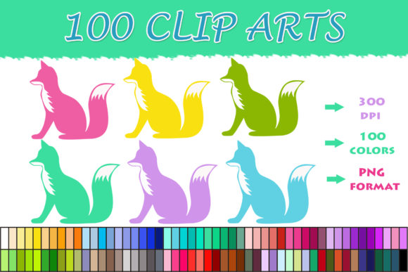Download Free 100 Fox Clip Art Graphic By Sweetdesign Creative Fabrica for Cricut Explore, Silhouette and other cutting machines.