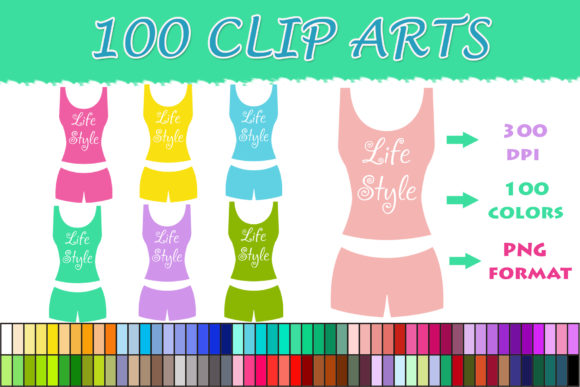 Download Free 100 Fitness Sportswear Clip Art Graphic By Sweetdesign for Cricut Explore, Silhouette and other cutting machines.