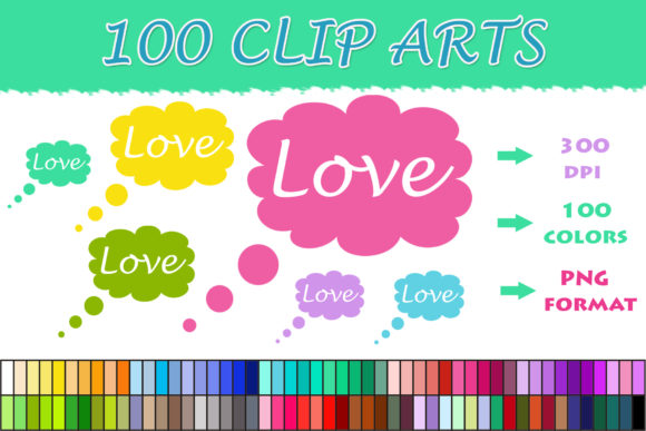 Download Free 100 Thoughts Love Clip Art Graphic By Sweetdesign Creative Fabrica SVG Cut Files