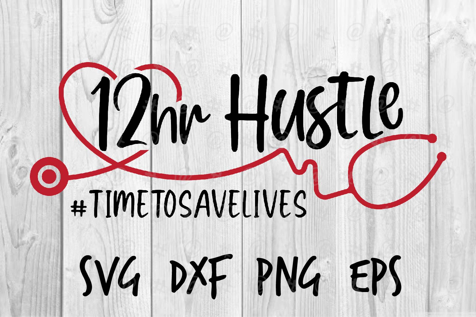 Download Free 12 Hr Hustle Graphic By Spoonyprint Creative Fabrica for Cricut Explore, Silhouette and other cutting machines.